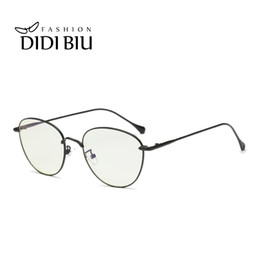 58c8dc7d69 DIDI Metal Thin Optics Anti Blue Rays Eyeglass Women Men Sexy Oval Eyewear  Frame Retro Glasses Computer Gaming Yellow Lens H838