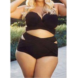 c13d8e8ded7 2018 Sexy Large Size High Waist Bathing Suit for Women Plus Size Swimwear  Push Up Padded Swimsuit Bikini Set Woman Summer Beach Swim Wear
