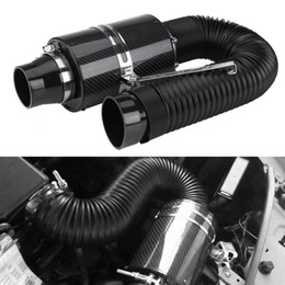 Cold intake kits online shopping - mm quot Car Filter Box Title Carbon Fiber Induction Ram Cold Air Intake System Intake Hose Car Cold Air Filter Induction Kit