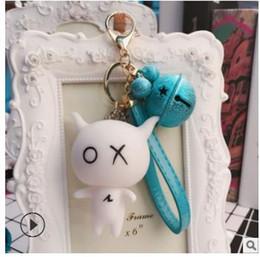 $enCountryForm.capitalKeyWord Australia - 2018 Cartoon Keychain pendant, fashion bell, female bag, key chain ring, car accessories