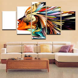 poster color paintings NZ - Wall Art Decorative Picture Modern HD Print Canvas Painting Home Decoration Color Abstract Woman Character Poster For Room
