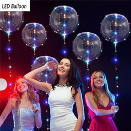 Glow Party Decorations NZ - birthday Party Wedding Decorations Transparent BOBO Balloon LED Lights Glow Balloons Valentine New Year christmas Halloween Decorations