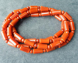 Discount indian jade ring - Natural red agate bracelet necklace Men and women barrel bead bracelet South red bracelet agate multi-ring