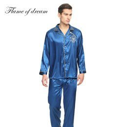 b4d39f023d Pajamas for men pyjama homme Mens silk shirts pyjamas men male sleepwear  mens sexy sleepwear pajamas men mens silk pajamas 006