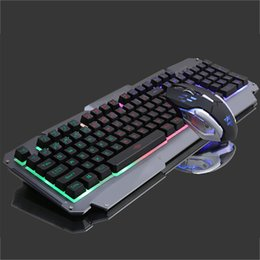 Keyboard For Office NZ - Colorful Backlit Gaming Keyboard and 6D Optical Mouse Combo Business Office USB Wired Keypad Mouse Suit for Desktop Laptop PC