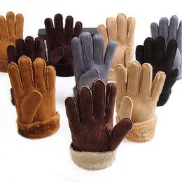 $enCountryForm.capitalKeyWord Canada - Hot Sale Women Men Cashmere Gloves Imitation Leather Fashion Female Full Finger Suede Mittens Unisex Winter Warmer Wrist Gloves