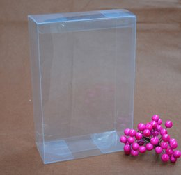 Wedding Display Cases Canada - 20pcs lot Party Transparent Plastic PVC Box Wedding Party Package Case For Jewelry Candy Handmade Crafts Plastic Display Box