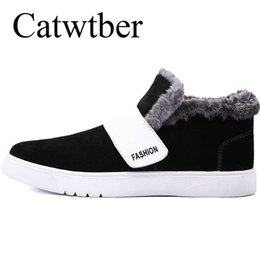 22bf6787382 2019 Catwtber High Quality Warm Men Winter Boots High Quality PU Leather  Wear Snow Boot Casual Shoes Working Fahsion Fur Men s Boot Sneakers