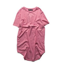 Camisa rayada roja negra para hombre online-Camisetas de rayas largas para  hombre Calle alta d8724962f22
