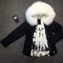 $enCountryForm.capitalKeyWord Canada - Meifng - S-4XL European and American fat sister raccoon fur collar real hare fur short cotton clothing, female rabbit fur coat .
