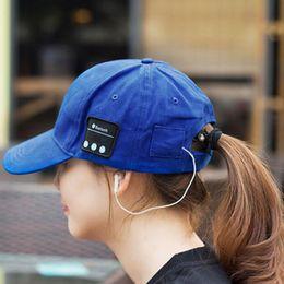 EarphonE wirElEss mp4 online shopping - 2018 Bluetooth music earphone hat outdoor baseball earphones cap wireless Bluetooth headset with speaker Colors