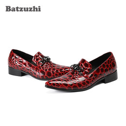 $enCountryForm.capitalKeyWord NZ - New Luxury Men Shoes Poined Toe Wine Red Patent Leather Shoes Men Formal Shoes for Men Wedding and Party Zapatos Hombre, Big Size US12