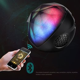 Free magic ball online shopping - Color ball Speaker Creative portable Crystal Magic Ball Subwoofer TF Card Bluetooth wireless mini speaker for Car and Phones free ship