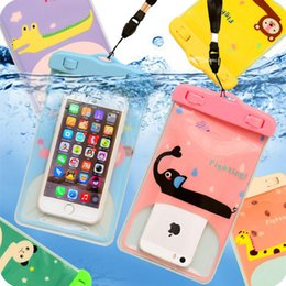 Discount clear waterproof cell phone pouch - 5.7'' Universal Waterproof Mobile Phone Bag Case Clear PVC Sealed Underwater Cell Smart Phone Dry Pouch Cell P