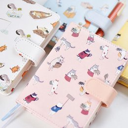$enCountryForm.capitalKeyWord Australia - Cute Kawaii Cat Notebook Cartoon Cute Journal Diary Planner Notepad For Kids Gift Korean Stationery Hand Book