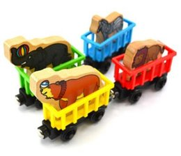 $enCountryForm.capitalKeyWord UK - Wooden Toy Vehicles Wood Trains Model Toy Magnetic Train Great Kids Christmas Toys Gifts for Boys Girls four styles