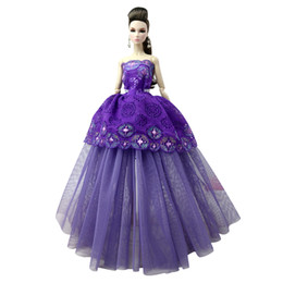 $enCountryForm.capitalKeyWord UK - NK One Pcs 2018 Princess Wedding Dress Noble Party Gown For Doll Fashion Design Outfit Best Gift For Girl' Doll 085J