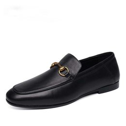a514c194f Mens Driving Shoes Style UK - Men's Dress Flats Loafers Spring Autumn Italy Style  Fashion Driving