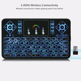 google tv mouse 2019 - TZ Q9 Mini 2.4GHz Wireless Keyboard RGB Backlight Air Mouse Touchpad Mice for Android Google Smart TV Air Mouse Mini Tec