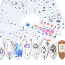 Pattern Decor Australia - Pattern Printed Nail Decals Environmental Friendly Nail Art Stickers Full Decor DIY Tip Tools