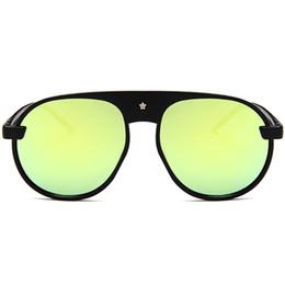 3f0bfbbb0d3 NoEnName Null Women Vintage Stars Round Frame Sunglasses Colored Lens  Outdoor Eyewear Glasses