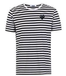 2019 commes camisetas de diseñador para hombre APAGADO Con las camisetas deportivas del corazón Camisetas des garcons Las camisas blancas de la raya de Pablo para el verano ver en venta