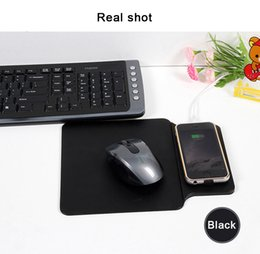 Wholesale Multi function Qi Wireless Charger Mouse Pad For iPhone Plus X Samsung Galaxy Note S8 S7 Edge Cellphone Wireless Charger Desktop