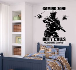 Playroom Art Australia - Solider with Helicopter Bedroom Wall Sticker For Playroom Boys Room Decoration