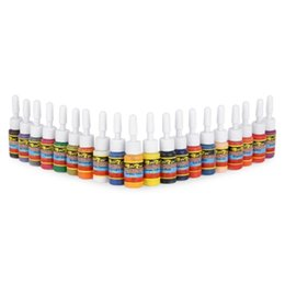 Wholesale Tattoo ml Colors Set Long Lasting Pigments Inks Long lasting Delicate texture Pure and safe color Favored by professional tattooists