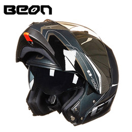 $enCountryForm.capitalKeyWord NZ - BEON New motorcycle helmet Flip Up Dual Visor Racing Motos Helmet 100% Genuine B700