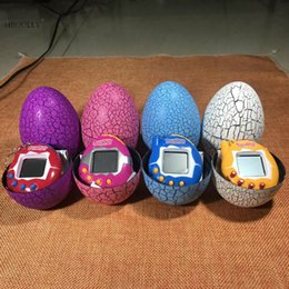Wholesale Dinosaur Egg Tumbler Virtual Cyber Digital Pets Electronic Digital E pet Retro Funny Toy Handheld Game pet Machine Tamagochi Toy