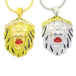 Spirit Pendants Australia - 91cm Animal Lion Head Pendant Necklace gold Color Stainless Steel Round Shape King Spirit Necklace For 2018 New Men Jewelry