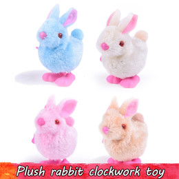 animal toys jump NZ - 1 PCS Cute Easter Rabbit Clockwork Toys Gifts for Children Babys Lovely Upper Chain Jumping Walking Plush Bunny Baby Toys Random Color