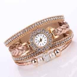 Weave Wrist Watch Australia - 2018 Watch Women Bracelet Fashion Vintage Weave Wrap Quartz Wrist Watch Bracelet For Ladies11.06