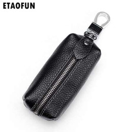 $enCountryForm.capitalKeyWord NZ - Etaofun men's luxury vintage genuine leather car key holder, high quality fashion housekeeper for women, new arrivals keys case