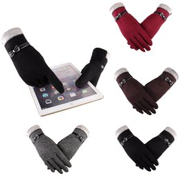 $enCountryForm.capitalKeyWord NZ - Women Fashion Bowknot Winter Warm Gloves Ski Wind Protect Hands Unisex Touch Screen Soft Warm Glove for Men and Women