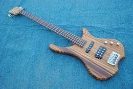 Body jazz Bass online shopping - Good sound Starshine JAzz Bass electric guitar zebra wood body guitarra guitars
