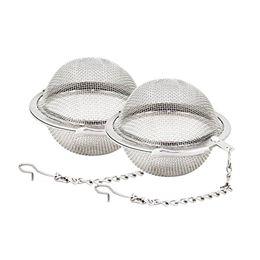 Vente en gros Filtres à mailles en acier inoxydable 5cm filtres à diffuseur de thé filtres à diffuseur d'intervalle pour la cuisine de thé outils de bar à manger WX9-378