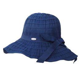 Women Bucket Hats Solid Panama Summer Fishing Hat Female Caps UV Protection Sun  Hat Beach Elegant Travel Vocation Fashion Bow 8489f090d75c