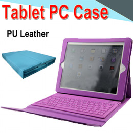 Ipad Tablet Stands NZ - 10 inch Bluetooth Keyboard PU Leather Case with Stand Holder Built-in Card Buckled Leather Tablet Case for Ipad 2345 Tablet PC color XPT-5