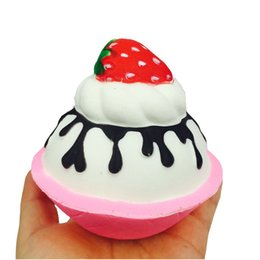 retail wholesales toys Australia - Squishy 10.5cm Strawberry ice cream Scented Charm Slow Rising Stress Reliever Toy For Relieves Stress Anxiety Home Decoration Toy Gift