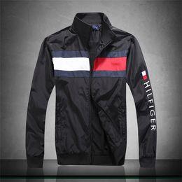 Ingrosso moda nuovi uomini manica lunga giacca cappotti Autunno sport Capispalla windrunner con cerniera giacca a vento abbigliamento uomo