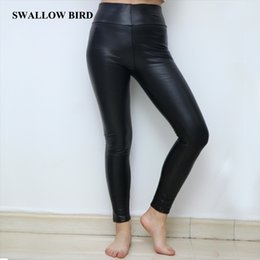 18836210c1c87 Girls plus size leGGinGs online shopping - Fashion Thick High waist PU  leggings in women s