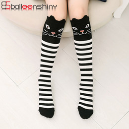 b23943d9e kids printed knee high socks 2019 - BalleenShiny Cartoon Baby Girls Socks  Print Animal Cotton Children