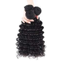 Human Hair Deep Wet Weave UK - Hot Selling Wet And Wavy Brazilian Virgin Hair Deep Curly Brazilian Deep Wave 3 Bundles BHF Virgin Hair 100% Human Hair Weaves