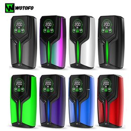Discount original wotofo mod - Original Wotofo Flux Box Mod 200w electric mod designed by wofoto & the rig with OLED color screen for 510 thread vape t
