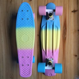 Girl Skateboards Red Canada - Fade Pastel Plastic Skateboard Mini Cruiser Complete 22