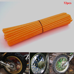 $enCountryForm.capitalKeyWord NZ - For 72 pcs Motorcycle Dirt Bike Wheel Rim Spoke Skins Covers Wrap Tubes Decoration Protector for KTM SX SXF 125 200 300 450 500 505 530