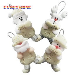 $enCountryForm.capitalKeyWord NZ - 6pcs lot Christmas Series Santa Claus Snowman Pendant Dolls Gift Toys Christmas Tree Hanging Ornaments Supplies for Home SD293