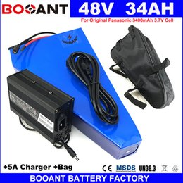 Motor Bicycles Australia - BOOANT No Tax Duty to US EU 48V 34AH For Bafang 1800W Motor E-Bike Lithium Battery 48V Electric Bicycle Battery Free Shipping